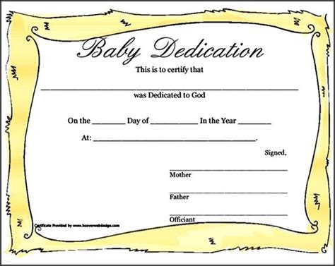 baby dedication certificates templates baby dedication certificate template baby dedication