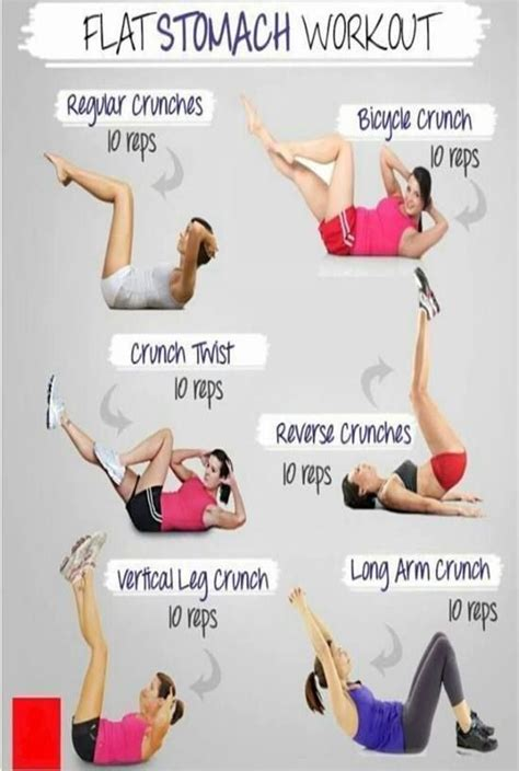 1000 ideas about flat stomach workouts on