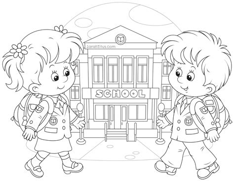 Back To School Coloring Pages Sarah Titus School Coloring Pages
