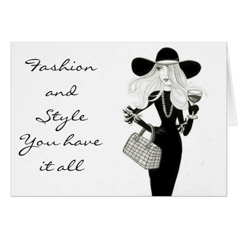 Happy Birthday To Me The Budget Fashionista by Happy Birthday Fashionista With Style Card Zazzle