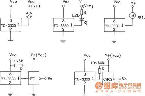 what is application integrated circuits tc 3330 single chip integrated photoelectric switch