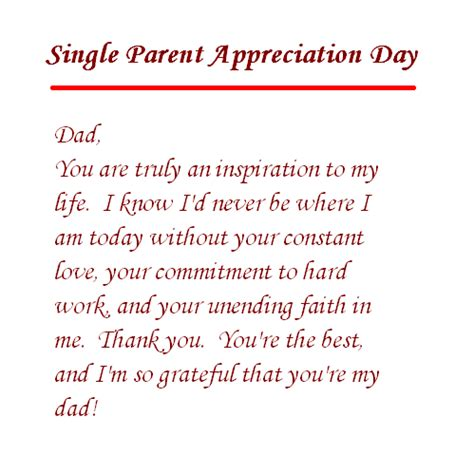 Appreciation Letter Father From Son single parent dad appreciation letter of parents day