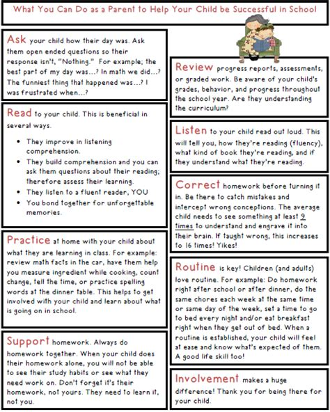 Parent Letter Curriculum S Take Out Parent Reminders For A Successful School Year