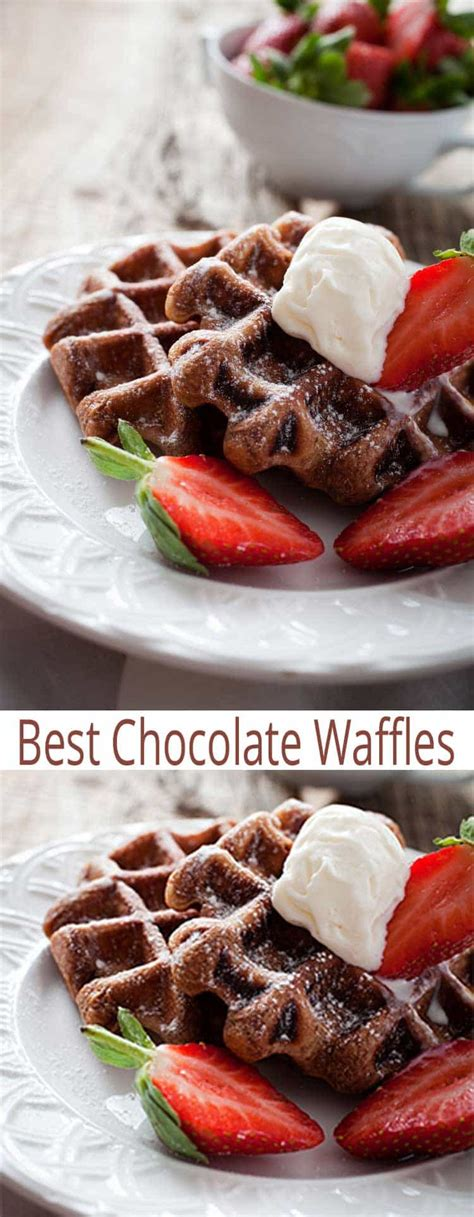 best 2 ingredient easy waffle recipe no the best chocolate chocolate waffles all she cooks