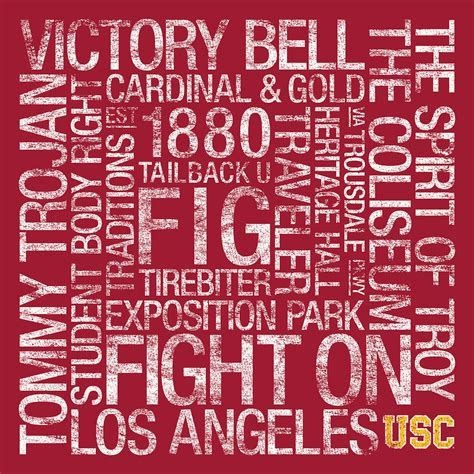 usc colors usc college colors subway photograph by replay photos