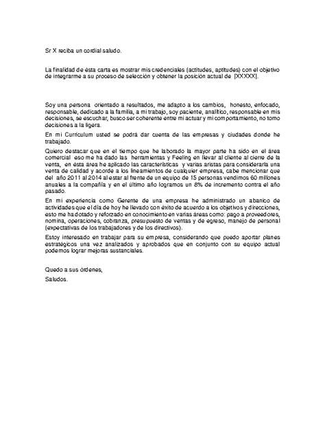Modelo Carta De Presentacion Curriculum General Carta De Presentaci 243 N General Curr 237 Culum Entrevista Trabajo