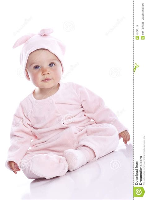 baby in bunny suit on swing baby wearing bunny suit stock images image 15793124