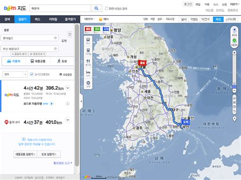 maps and directions driving route 10원 tips maps shows driving directions in korea