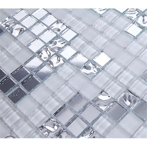 glass and mosaic tile backsplash silver and mirrored glass mosaic tile murals frosted