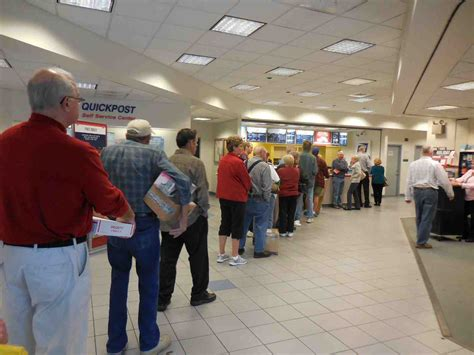 local postal customers lines as