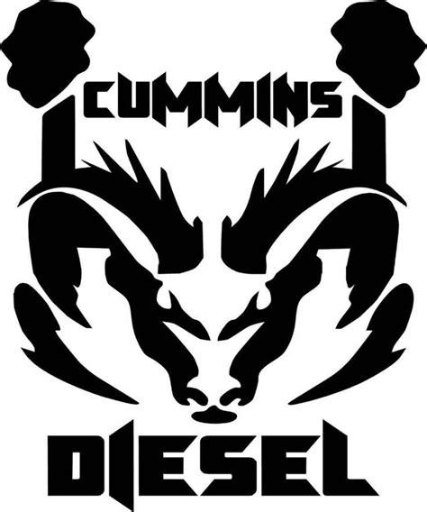 cummins truck white cummins diesel ram dodge logo vinyl decal sticker