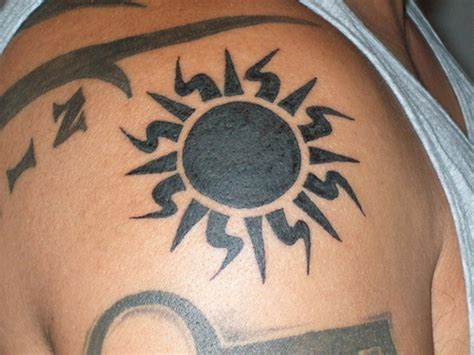 tribal sun tattoos for men 53 wonderful shoulder sun
