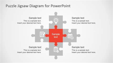 Free Flat Puzzle Jigsaw Powerpoint Diagram Slidemodel Powerpoint Jigsaw Template 2