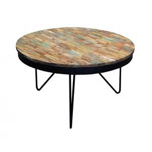 table basse ronde bois recycl 233 color 233