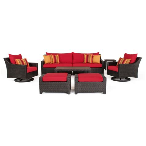 rst brands deco 8 all weather wicker patio deluxe