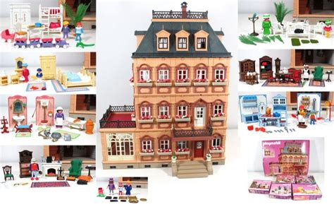 playmobile dolls house playmobil victorian dollhouse w 4 floors fully furnished house 5300 7411 more