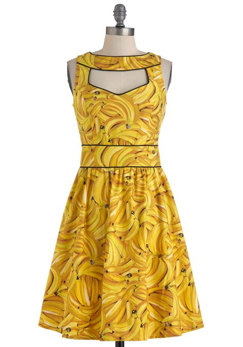 Banana Dress boldest of the bunch dress mod retro vintage dresses