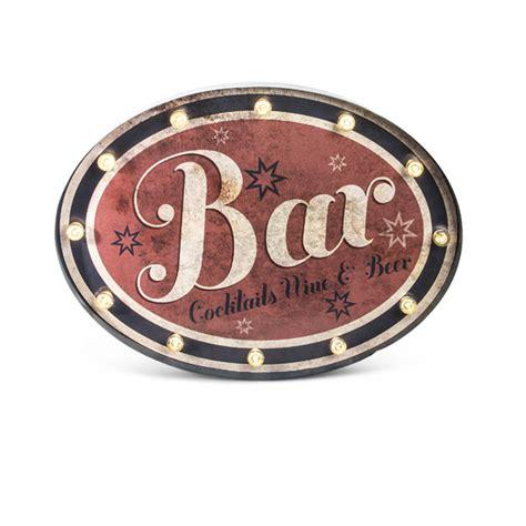 Bar Sign Light by Lone Elm Studios Lighted Bar Sign Oval 92896