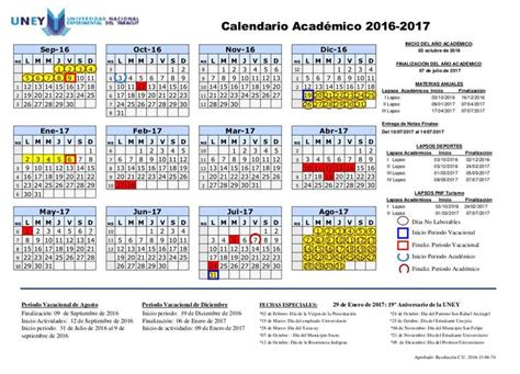 Calendario Academico 2016 25 Best Ideas About Calendario Academico On