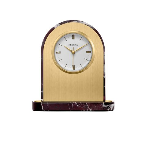 Bulova Table Clock by Desire Engravable Table Clock Bulova B5012