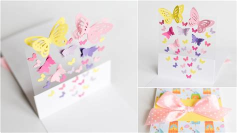 Diy Place Cards Template Butterfly by How To Make Greeting Card Pop Up Butterflies Step By
