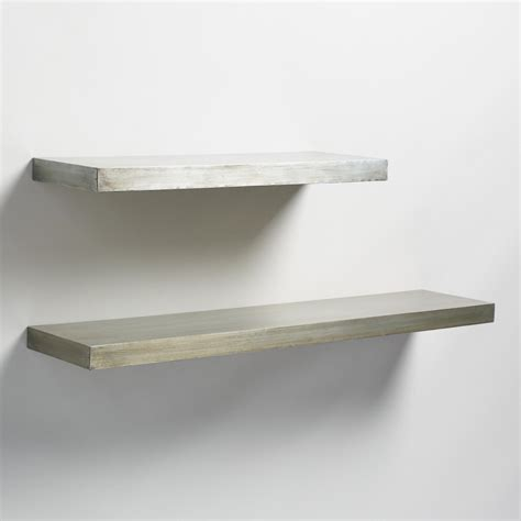 wall shelf antique zinc floating ledge wall shelf world market