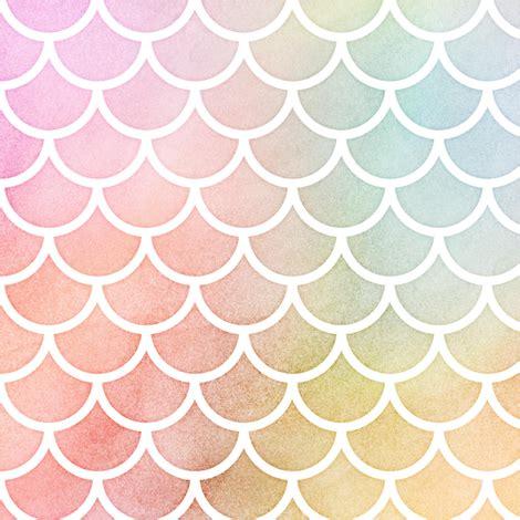 pastel simple pattern pastel rainbow watercolor scale pattern 1 fabric