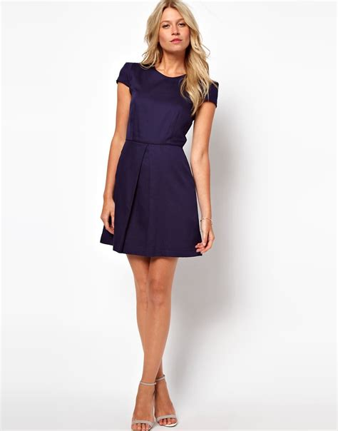 Dress Model A Line asos asos a line dress with structured sleeves at asos