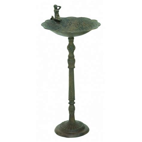 seaworn cast iron mermaid bird bath 32 quot
