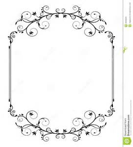 vintage frame with swirls stock vector image 39236291