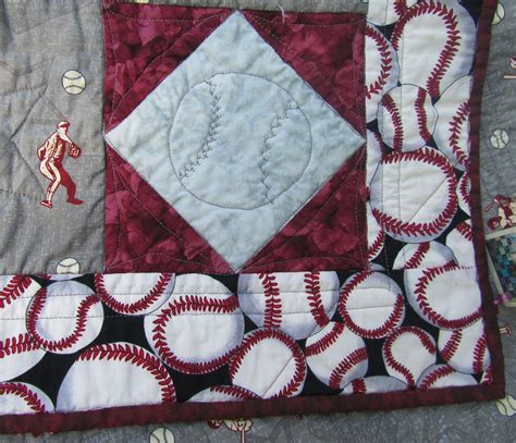 Baseball Quilt by Baseball Baby Quilt Or Quilt In Gray And By