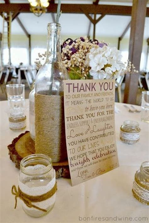 include a heartfelt thank you to your diy candle wedding favor display see more diy wedding