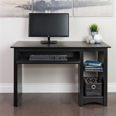 and black computer desk broadway black computer desk ebay