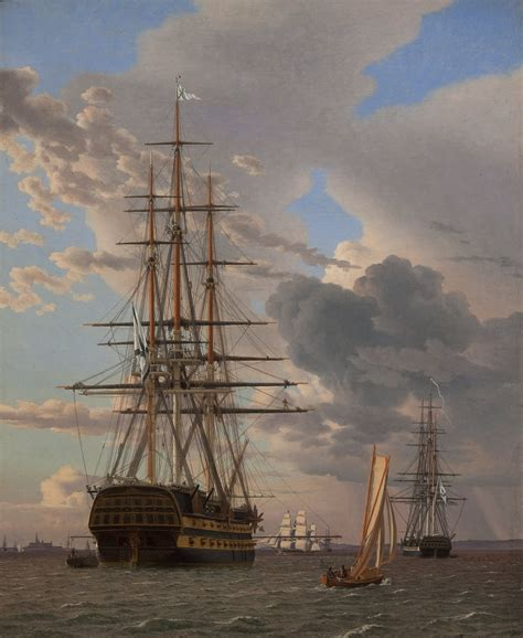 ship of the line the russian ship of the line quot asow quot and a frigate at