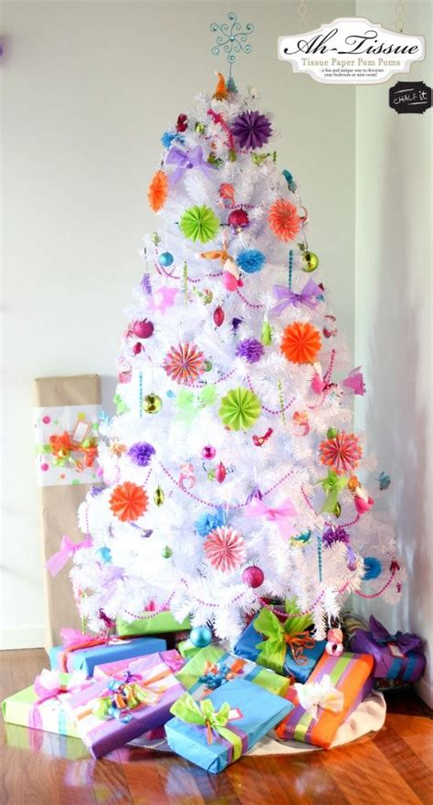bright color christmas decorations will be decorating my white xmas tree with bright colored