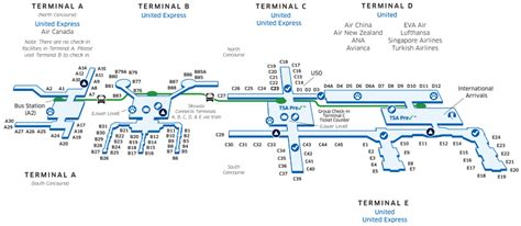 houston map airport houston intercontinental iah airport map united airlines