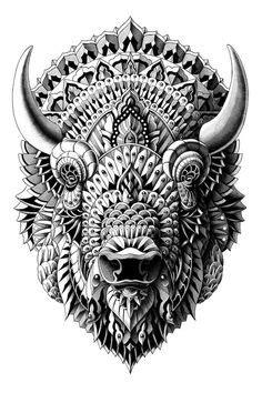 Bison by BioWorkZ on DeviantArt | Ideas | Art, Pencil