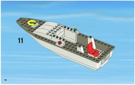 lego boat step by step lego fishing boat instructions 4642 city