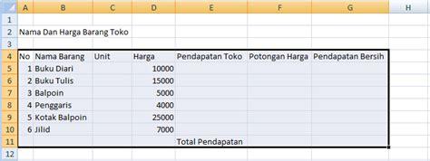 tutorial membuat tabel menggunakan html cara membuat tabel menggunakan excel 2007