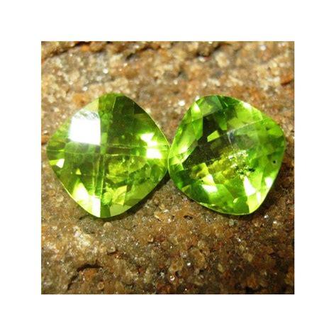 Batu Cincin Peridot Top Luster ada set 2 pcs batu permata peridot buff top 3 15 carat