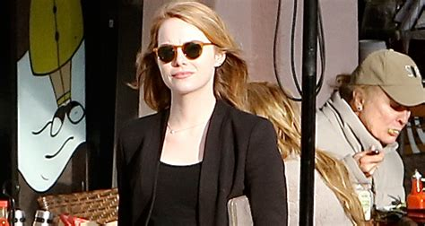 emma stone just jared emma stone steps out for casual bite to eat in santa
