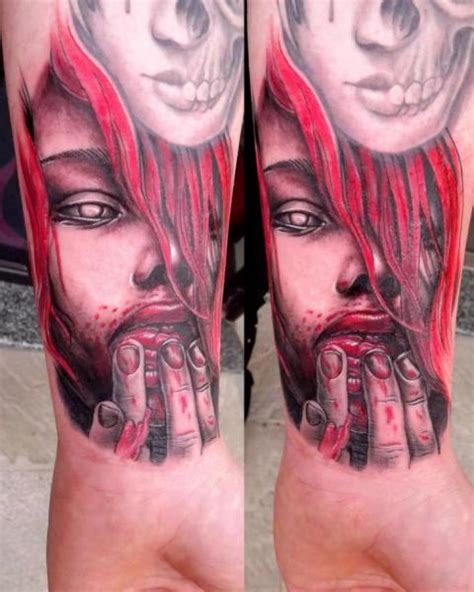 next level tattoo arm blood by next level