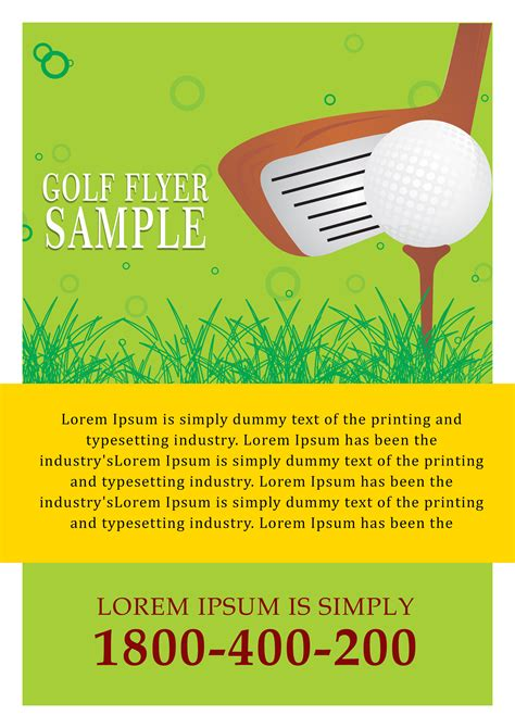15 Free Golf Tournament Flyer Templates Fundraiser Charity Flyers Demplates Flyer Template