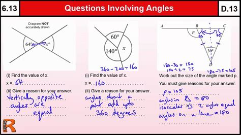 6 13 Questions Involving Angle Rules Basic Maths Core