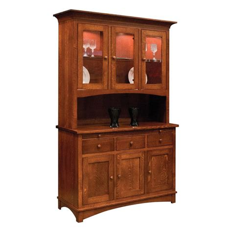 collection 3 door hutch amish crafted furniture