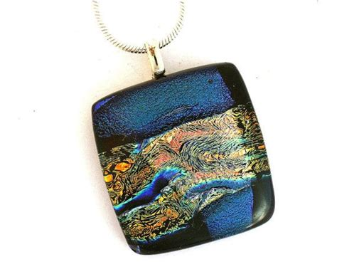 A Dichroic Look by 25 Best Dichroic Glass Jewelry Ideas On