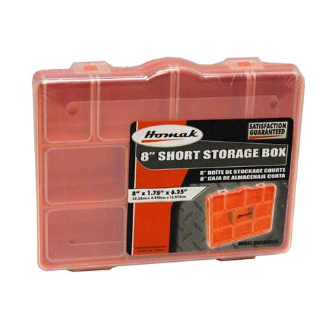 homak 13 compartment non stackable storage box orange