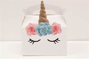 Diy unicorn party boxes free printables party delights