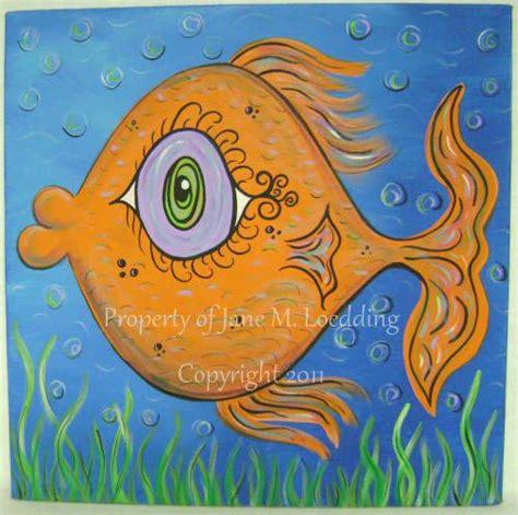 whimsical acrylic painting ideas fish original acrylic painting whimsical acrylic