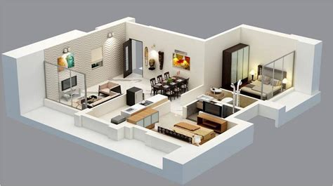 home design 3d 2 bhk outstanding 3d floor plans amazing architecture magazine